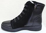 Ботинки женские зимние большого размера на низком ходу от производителя модель БР201, фото 3