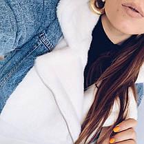 Очень теплая женская джинсовая куртка на меху кролик, фото 3