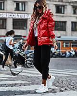 Стильна жіноча куртка тканина Тканина ПЛАЩІВКА МОНКЛЕР НАПОВНЮВАЧ СИЛІКОН 250 (с-л), фото 1