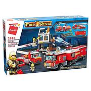Конструктор Qman 2810 Fire Rescue Пожарная спасательная техника, 996 деталей, в коробке