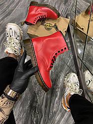 Женские ботинки Dr Martens 1460 Red демисезонные (красный)