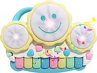 Развивающая музыкальная игрушка для малышей Пианино подсветка звуки животных