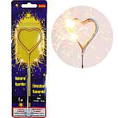Бенгальский огонь Сердце (золотое) 071020-002