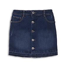 Детская джинсовая юбка для девочки темно-синяя 122-128 см