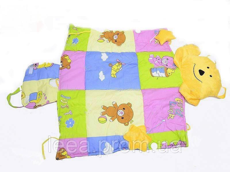 """Мягкий игровой коврик для младенца """"Мишутка"""" CH803 с музыкальными игрушками"""