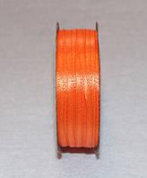 Лента атласная 3 мм оранжевая 16615