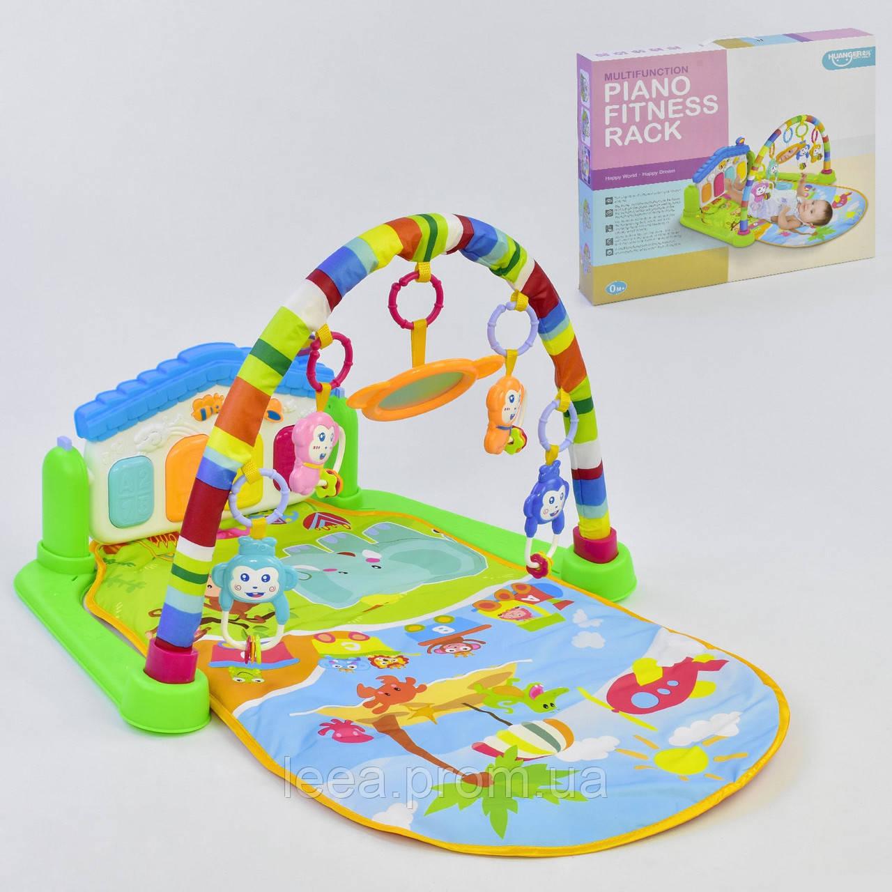 Развивающий коврик с музыкальной панелью в виде домика НЕ 0605 и подвесными игрушками