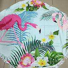 Пляжный коврик Два Фламинго 150х150 см