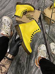Женские ботинки Dr Martens 1460 Yellow демисезонные (желтый)