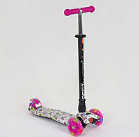 Самокат детский трехколесный Best Scooter Maxi светятся колеса самокат-кикборд для девочки