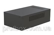 Корпус металевий MB-18 (Ш180 Г310 В100) чорний, RAL9005(Black textured)