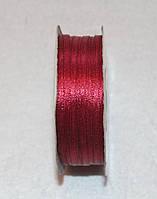 Лента атласная 3 мм бордовая 16617