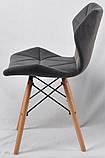 Стул Greg бархат серый B-1004 на деревянных буковых ножках, дизайн Charles Eames, фото 3