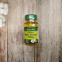 Puritan's pride Garlic Extract 1000 mg 100 Rapid Release Softgels , экстракт чеснока