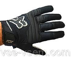 Кроссовые перчатки Fox, мотоперчатки текстильные FOX