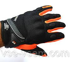 Мото перчатки SUOMY, мотоперчатки текстильные Soumy Orange