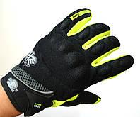 Мото рукавички AXE, мотоперчатки текстильні Axe light green, фото 1