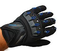 Мото рукавички SCOYCO MC10 Blue, мотоперчатки текстильні з захистом