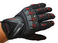 Мото рукавички SCOYCO MC10 red, мотоперчатки текстильні з захистом, фото 1