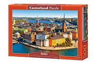 """Пазлы """"Старый город Стокгольм, Швеция"""", 500 элементов, Castorland, пазл,пазлы castorland"""