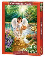 "Пазлы ""Ангел, кормящий утят"", 500 элементов, Castorland, пазл,пазлы castorland"