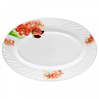 """Блюдо овальное """"Орхидея Red"""" 35 см 112"""