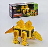 Магнитный конструктор для детей Динозавр конструктор-головоломка свет звук на батарейках