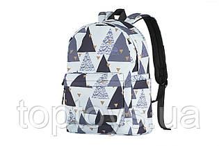 "Рюкзак для ноутбук 2E TeensPack 13"" Triangles White (2E-BPT6114WT)"