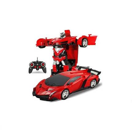 Машинка Трансформер Lamborghini Robot Size 118 Красная, фото 2