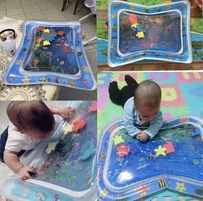 Надувний дитячий розвиваючий килимок Підводний світ, фото 2
