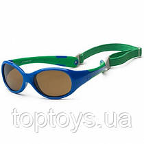 Дитячі сонцезахисні окуляри Koolsun зелені серії Flex Розмір 3+ (KS-FLRS003)