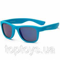 Дитячі сонцезахисні окуляри Koolsun неоново-блакитні серії Wave Розмір 3+ (KS-WANB003)