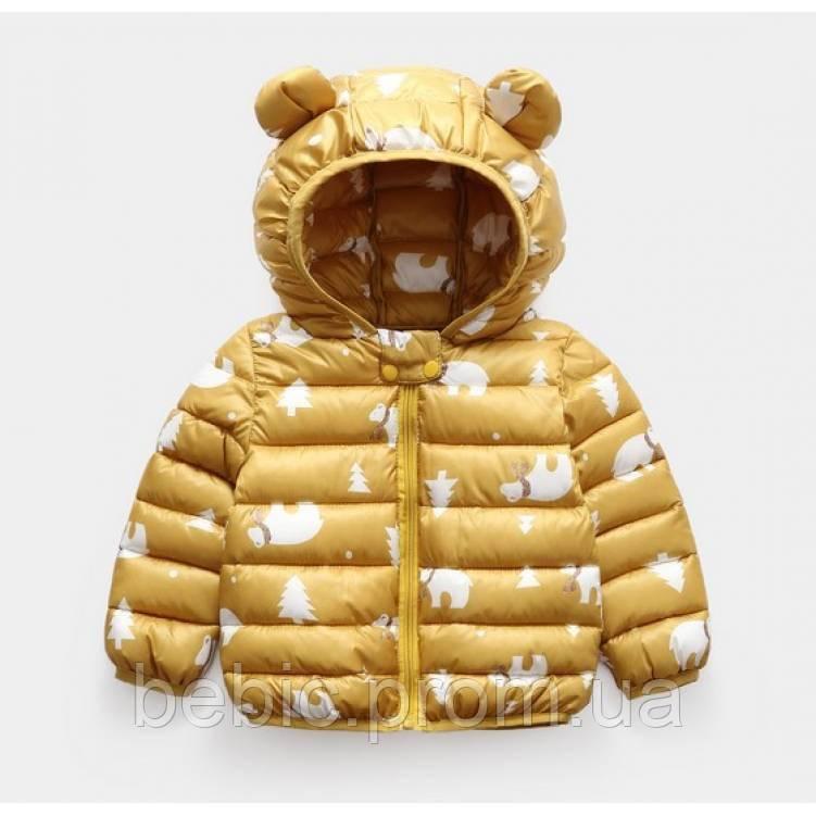 Демисезонная курточка желтая Рост: 100-120 см