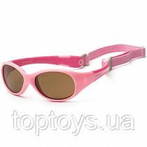Дитячі сонцезахисні окуляри Koolsun рожеві серії Flex Розмір 3+ (KS-FLPS003)