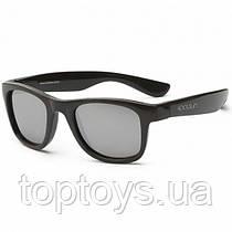 Дитячі сонцезахисні окуляри Koolsun чорні серії Wave Розмір 1+ (KS-WABO001)