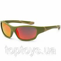 Дитячі сонцезахисні окуляри Koolsun хакі серії Sport Розмір 6+ (KS-SPOLBR006)