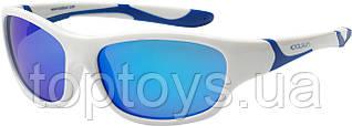 Дитячі сонцезахисні окуляри Koolsun біло-блакитні серії Sport 3+ (KS-SPWHSH003)
