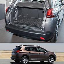 Пластикова захисна накладка на задній бампер для Peugeot 2008 2013-2019