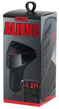 Автомобильное зарядное устройство (USB адаптер) REMAX 3USB ALIENS