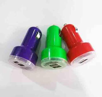 Автомобильное зарядное устройство (USB адаптер) 2USB mini пластик