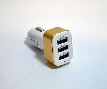 Автомобильное зарядное устройство (USB адаптер) 3USB SMART MINI