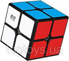 Головоломка Кубик Рубіка QiYi 2х2 MoFangGe QiDi чорний пластик (6948154201635)