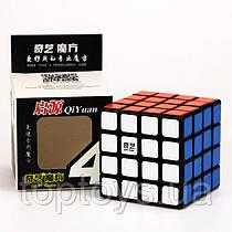 Головоломка Кубик Рубіка QiYi 4х4  MoFangGe QiYuan чорний пластик(6948154201611)