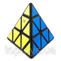 Головоломка Піраміда QiYi MoFangGe QiMingA чорний пластик (6948154201536)