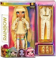 Кукла Рейнбоу Хай Санни Медисон Rainbow High Surprise Sunny Madison желтая с аксессуарами 569626 оригинал