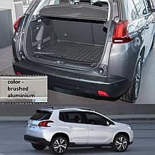 Пластиковая защитная накладка на задний бампер для Peugeot 2008 2013-2019