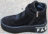 Ботинки женские замшевые на байке от производителя модель КА109, фото 3