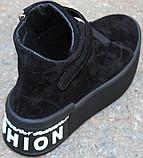 Ботинки женские замшевые на байке от производителя модель КА109, фото 4