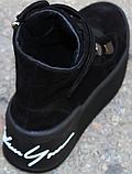 Ботинки женские замшевые на байке от производителя модель КА109, фото 7