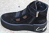 Ботинки женские замшевые на байке от производителя модель КА109, фото 6